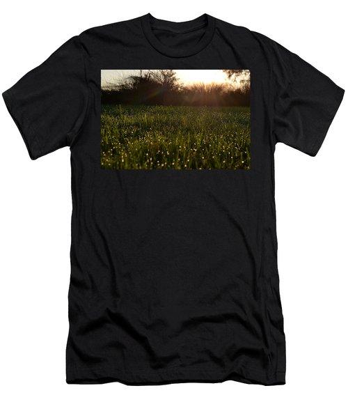 A Field Of Jewels Men's T-Shirt (Slim Fit) by Melanie Moraga
