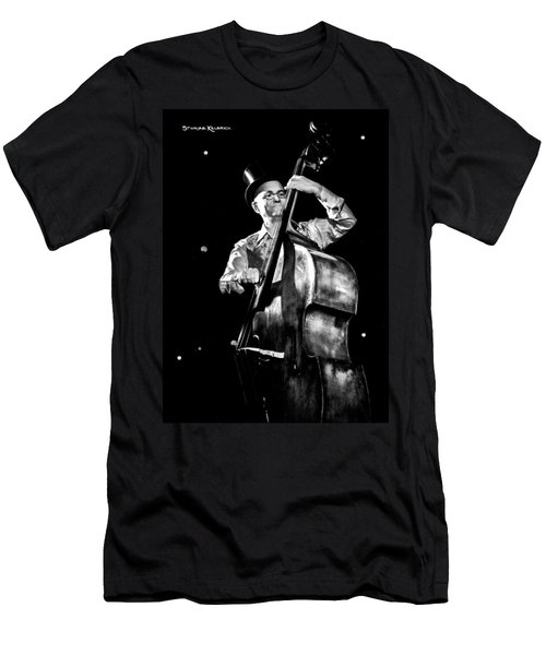 Men's T-Shirt (Athletic Fit) featuring the photograph A French Contrabass Player by Stwayne Keubrick