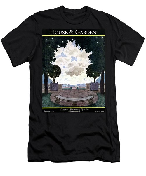 A French Formal Garden Men's T-Shirt (Athletic Fit)