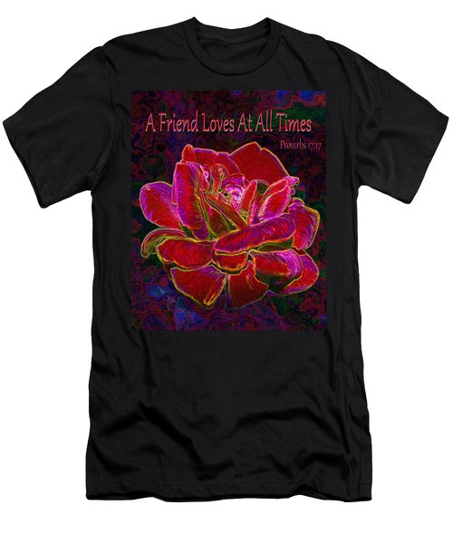 A Friend Loves At All Times Men's T-Shirt (Slim Fit) by Michele Avanti