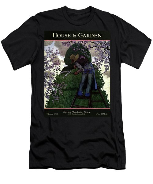 A Gardener Pruning A Tree Men's T-Shirt (Athletic Fit)