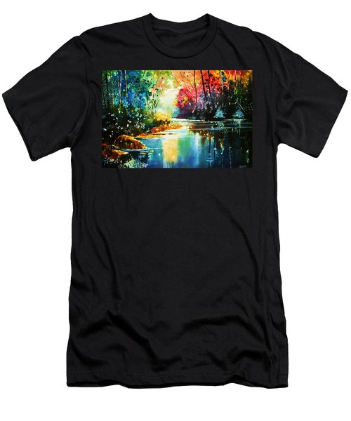 A Glow In The Forest Men's T-Shirt (Athletic Fit)
