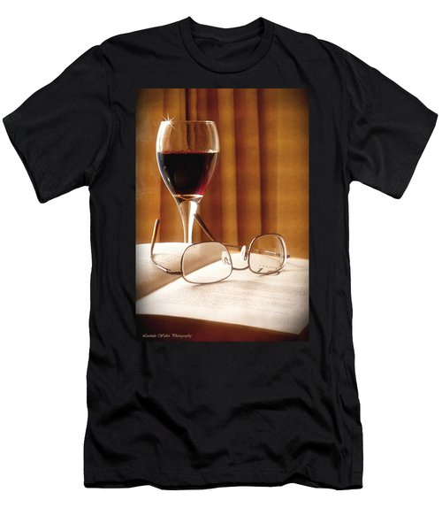 A Good Book And A Glass Of Wine Men's T-Shirt (Athletic Fit)