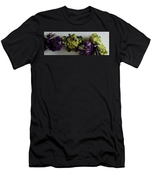 A Group Of Cauliflower Heads Men's T-Shirt (Slim Fit) by Romulo Yanes