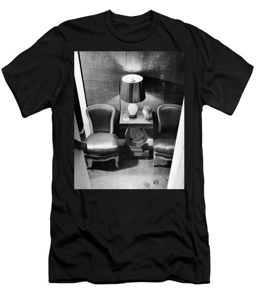 A Hallway With Blueprints Men's T-Shirt (Athletic Fit)