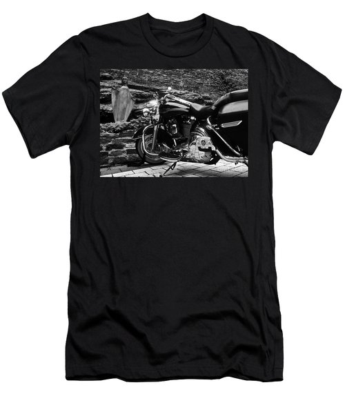 A Harley Davidson And The Virgin Mary Men's T-Shirt (Athletic Fit)
