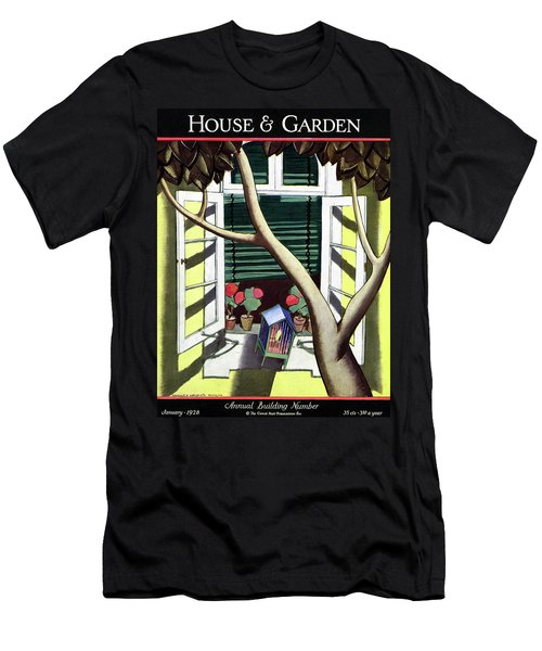 A House And Garden Cover Of A Birdcage Men's T-Shirt (Athletic Fit)
