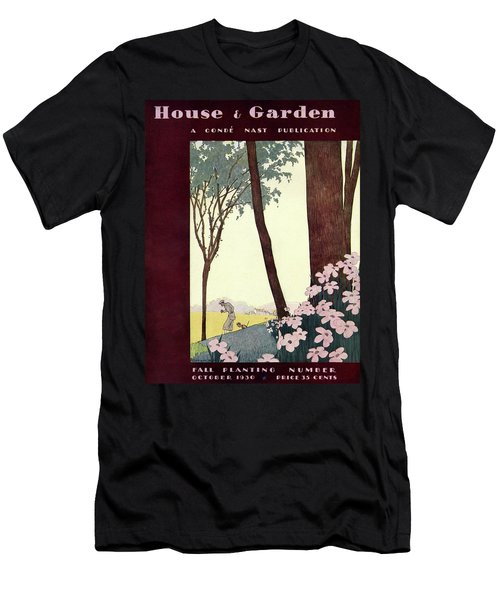 A House And Garden Cover Of A Rural Scene Men's T-Shirt (Athletic Fit)