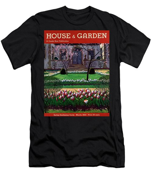 A House And Garden Cover Of A Tulip Garden Men's T-Shirt (Athletic Fit)