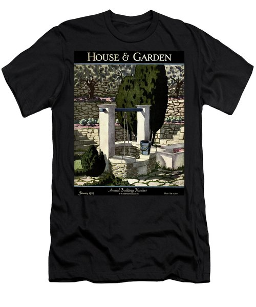 A House And Garden Cover Of A Well Men's T-Shirt (Athletic Fit)