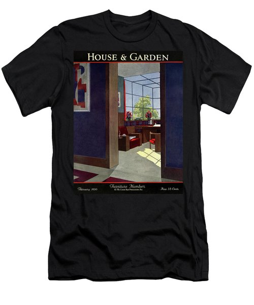 A House And Garden Cover Of An Interior Men's T-Shirt (Athletic Fit)