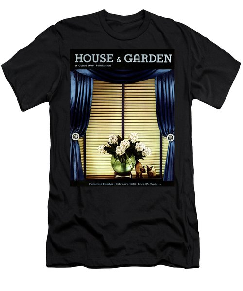 A House And Garden Cover Of Flowers By A Window Men's T-Shirt (Athletic Fit)