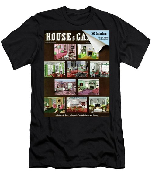 A House And Garden Cover Of Interior Design Men's T-Shirt (Athletic Fit)