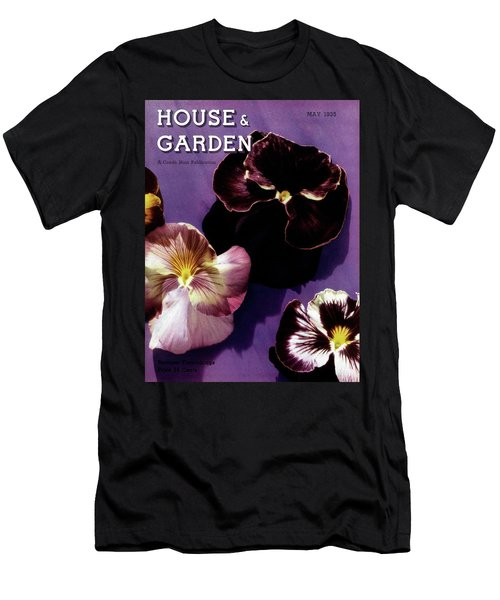 A House And Garden Cover Of Pansies Men's T-Shirt (Athletic Fit)