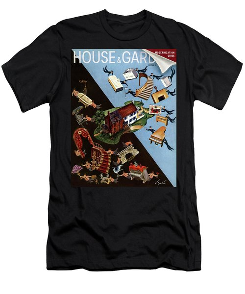 A House And Garden Cover Of People Moving House Men's T-Shirt (Athletic Fit)