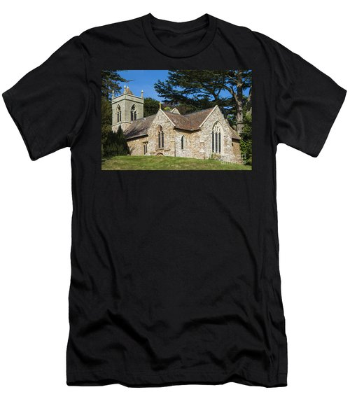 Men's T-Shirt (Slim Fit) featuring the photograph A Little Church In Warwickshire by Linsey Williams