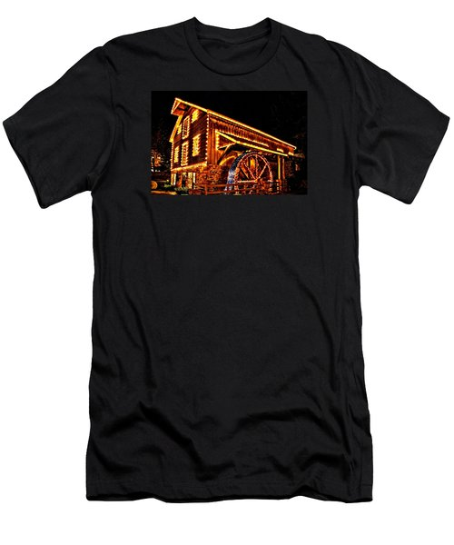 A Mill In Lights Men's T-Shirt (Slim Fit) by DJ Florek