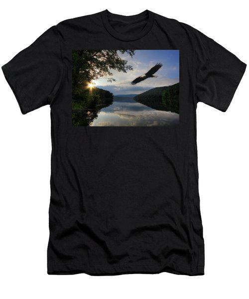 A New Beginning Men's T-Shirt (Slim Fit) by Lori Deiter
