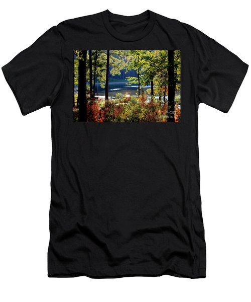 A Peek At Lake O The Pines Men's T-Shirt (Slim Fit) by Kathy  White