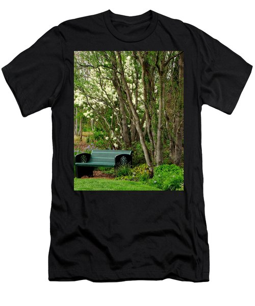Men's T-Shirt (Slim Fit) featuring the photograph A Place To Sit by Rodney Lee Williams