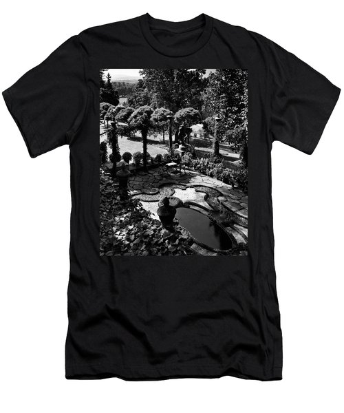 A Pond In An Ornamental Garden Men's T-Shirt (Athletic Fit)