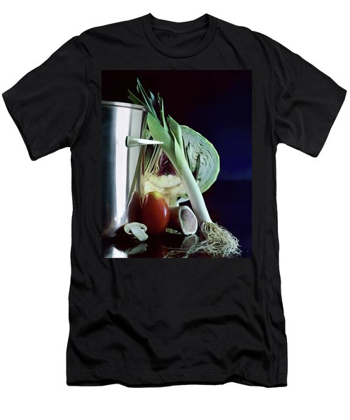 A Pot With Assorted Vegetables Men's T-Shirt (Athletic Fit)