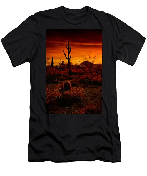 A Red Desert  Men's T-Shirt (Athletic Fit)
