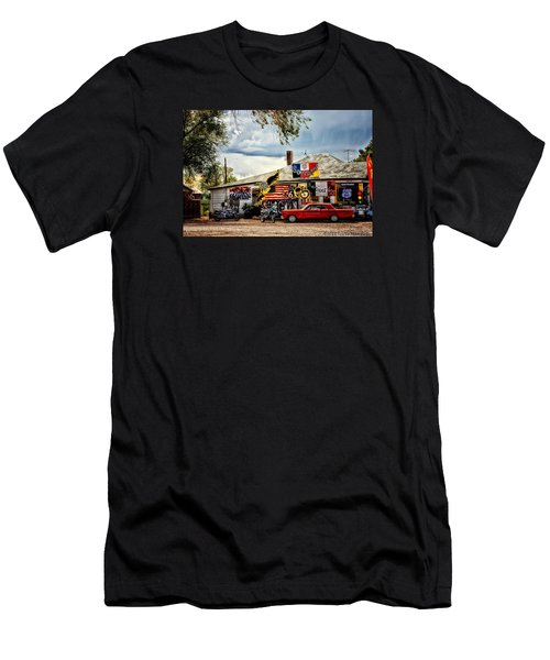 A Ride On Route 66 Men's T-Shirt (Slim Fit) by Tricia Marchlik