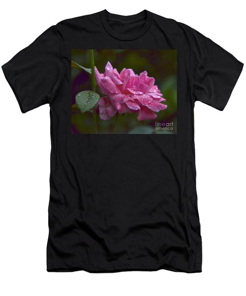 Men's T-Shirt (Slim Fit) featuring the photograph A Rose Is A Rose by Carol  Bradley