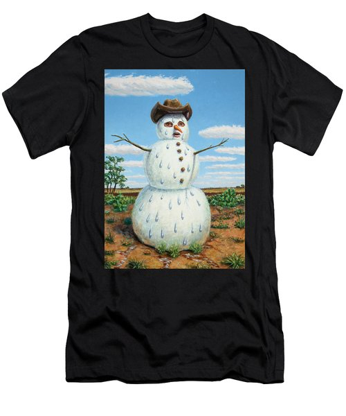 A Snowman In Texas Men's T-Shirt (Athletic Fit)