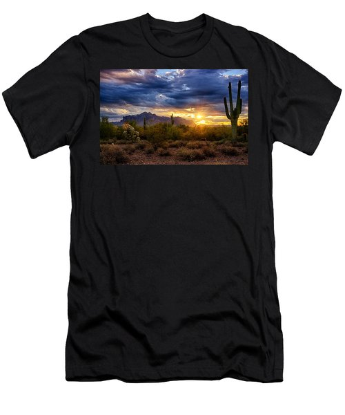 A Sonoran Desert Sunrise Men's T-Shirt (Athletic Fit)