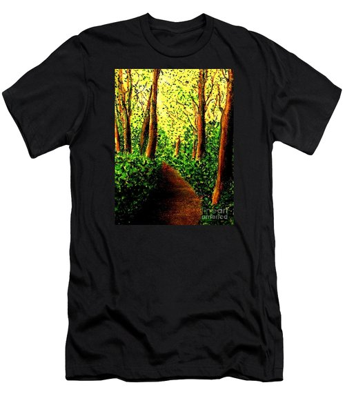 Men's T-Shirt (Slim Fit) featuring the painting A Spiritual Awakening by Hazel Holland