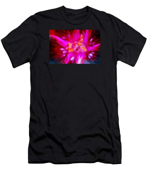 Men's T-Shirt (Slim Fit) featuring the photograph A Splash Of Colour by Wendy Wilton