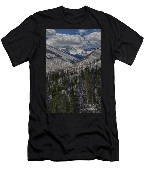 A Spring's Look To The Right On The Way Into Yellowstone Men's T-Shirt (Athletic Fit)