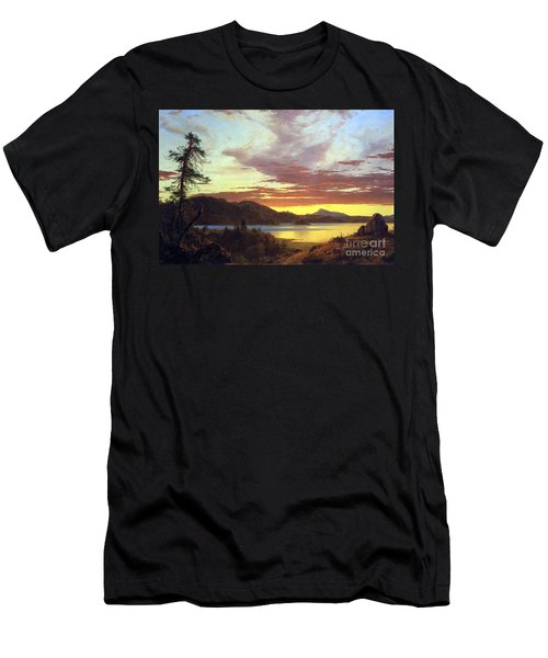 A Sunset By Frederick Edwin Church Men's T-Shirt (Athletic Fit)