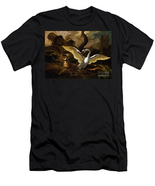 A Swan Enraged By Hondius Men's T-Shirt (Athletic Fit)