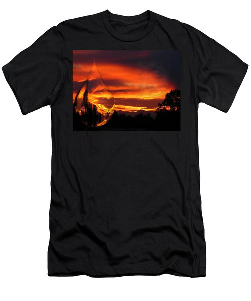 Men's T-Shirt (Slim Fit) featuring the digital art A Teardrop In Time by Joyce Dickens