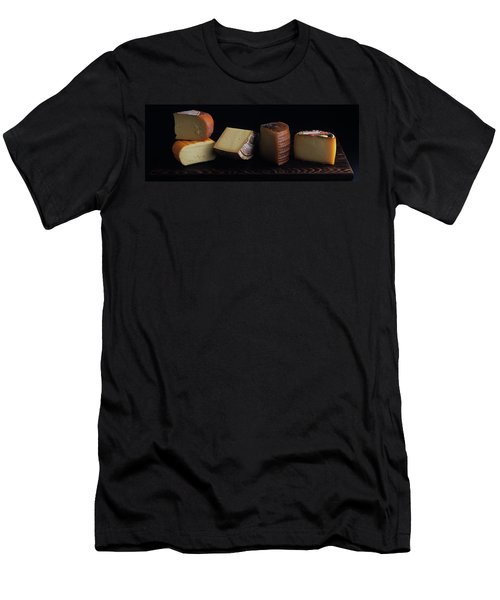 A Variety Of Cheese On A Cutting Board Men's T-Shirt (Athletic Fit)