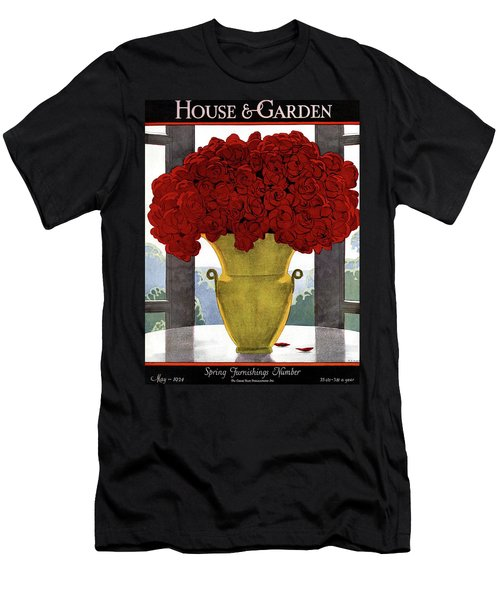 A Vase With Red Roses Men's T-Shirt (Athletic Fit)