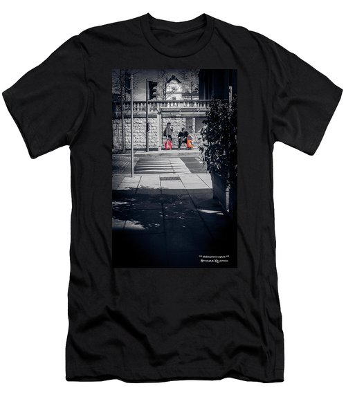 Men's T-Shirt (Athletic Fit) featuring the photograph A Very Long Waiting Day by Stwayne Keubrick
