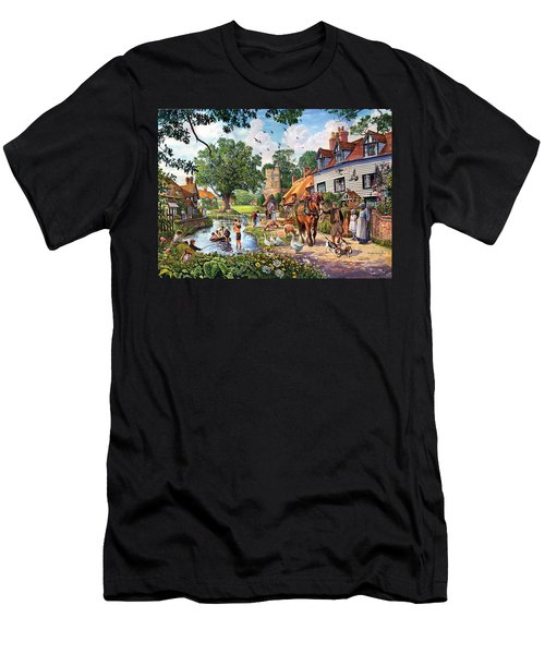 A Village In Summer Men's T-Shirt (Athletic Fit)