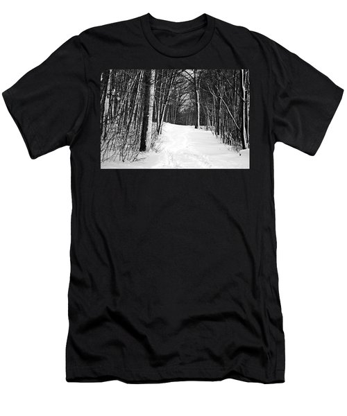 A Walk In Snow Men's T-Shirt (Athletic Fit)