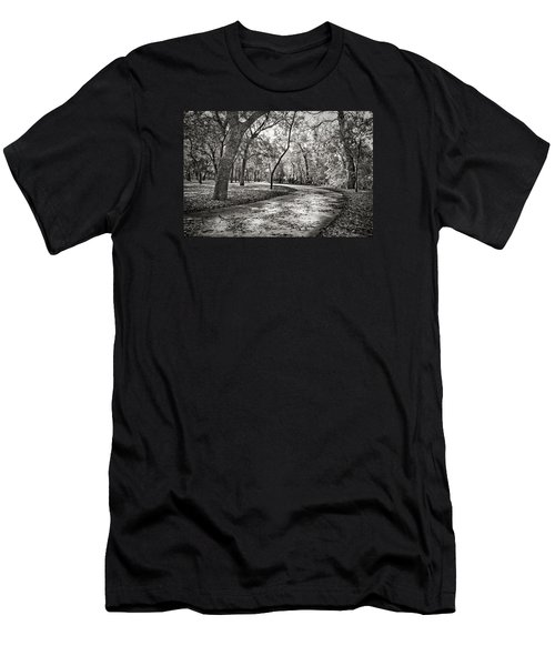 Men's T-Shirt (Slim Fit) featuring the photograph A Walk In The Park by Darryl Dalton