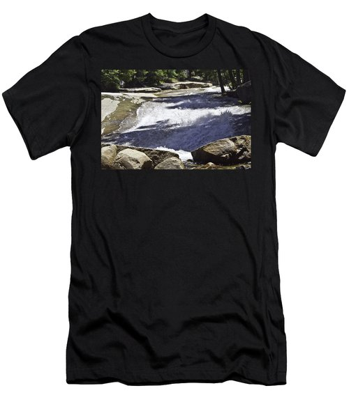 Men's T-Shirt (Slim Fit) featuring the photograph A Water Slide by Brian Williamson