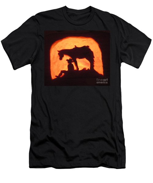Country Style Halloween Pumpkin Carving Men's T-Shirt (Athletic Fit)