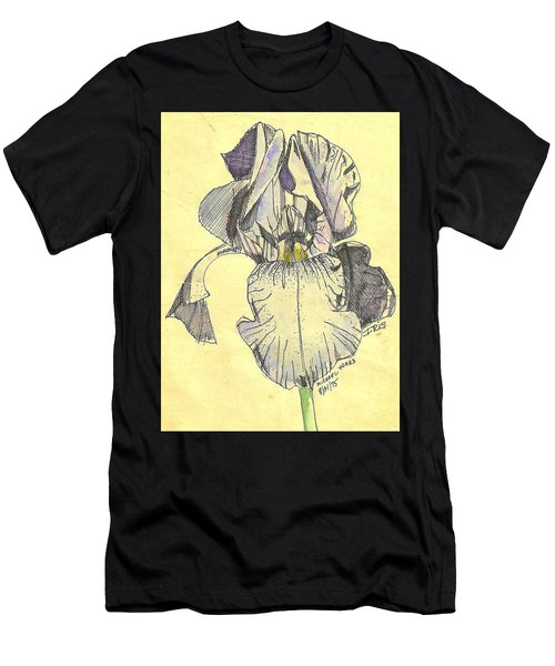 Men's T-Shirt (Slim Fit) featuring the photograph A Wild Lavender Louisiana Iris by Michael Hoard