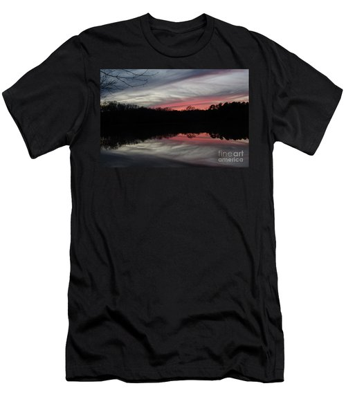 A Christmas Winter Sunset Men's T-Shirt (Athletic Fit)