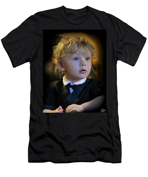 Men's T-Shirt (Slim Fit) featuring the photograph A Young Gentleman by Ally  White