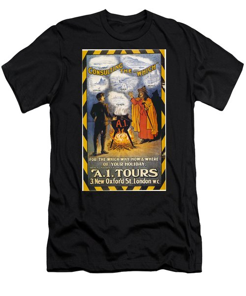 Men's T-Shirt (Slim Fit) featuring the photograph A1 Tours Vintage Travel Poster by Gianfranco Weiss