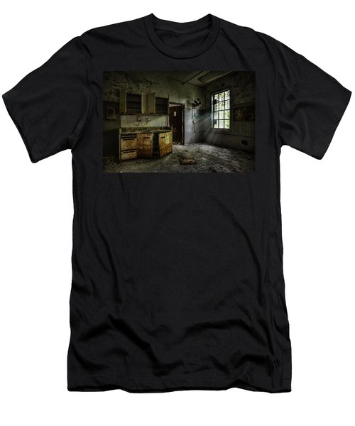 Abandoned Building - Old Asylum - Open Cabinet Doors Men's T-Shirt (Athletic Fit)